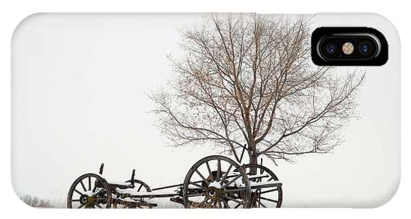 Wagon In The Snow IPhone Case