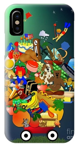 Wagon Of Toys Without White Frame IPhone Case