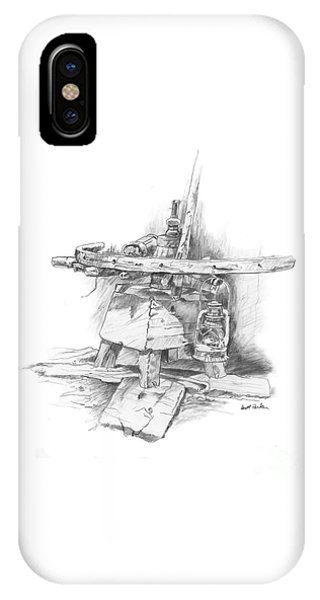 Wagon Wheel Work Bench IPhone Case