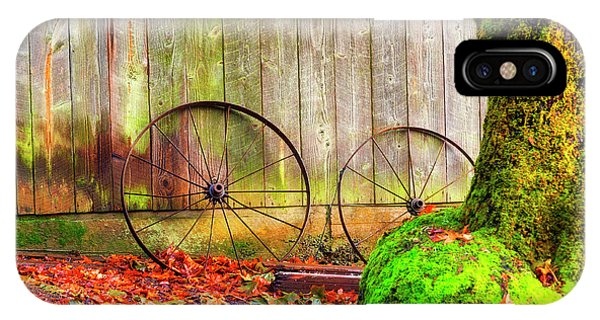 Wagon Wheels And Autumn Leaves IPhone Case