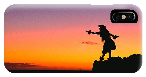 Hawaii iPhone Case - Wahine Hula Dancer by William Waterfall - Printscapes