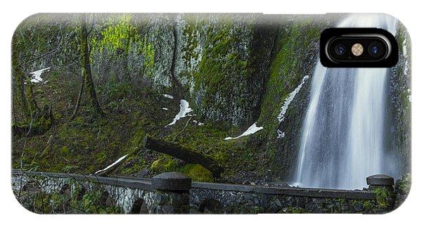 Wahkeena Falls Bridge IPhone Case