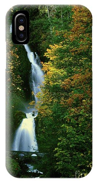 Wahkeena Falls Waterfall IPhone Case