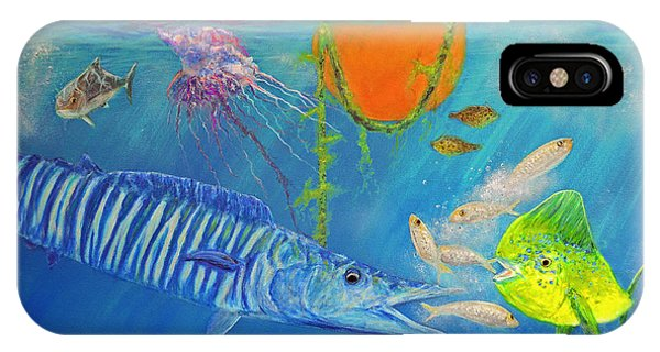 Wahoo Dolphin Painting IPhone Case