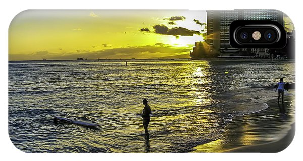 Waikiki Beach At Sunset IPhone Case
