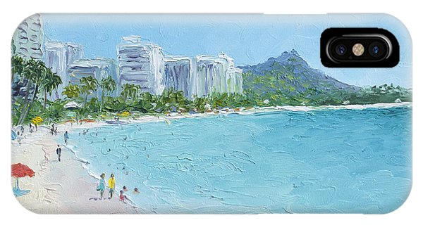 Waikiki Beach Honolulu Hawaii IPhone Case