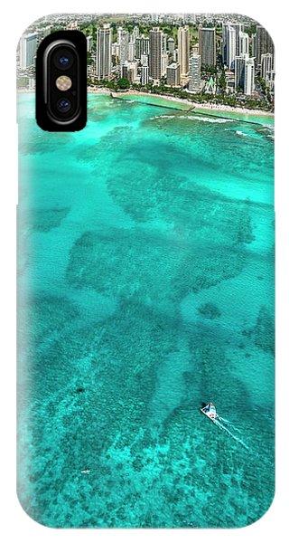 Catamaran iPhone Case - Waikiki Catamaran by Sean Davey