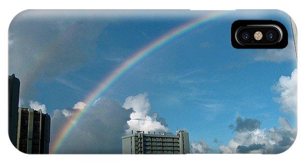 Waikiki Rainbow IPhone Case
