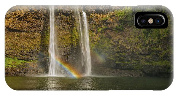 Wailua Falls Rainbow IPhone Case