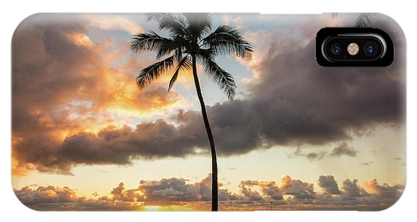 Sun Set iPhone Case - Waimea Beach Sunset - Oahu Hawaii by Brian Harig