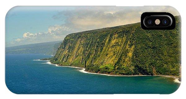Waipio Waterfall Coastline IPhone Case