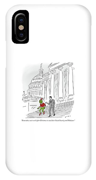 Capitol Building iPhone Case - Wait Until After Christmas To Steal Their Social Security by Kim Warp