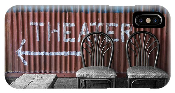 Corrugated Metal Theater Sign IPhone Case