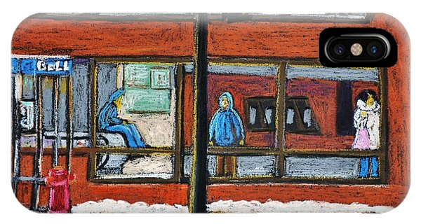 Waiting At The Metro IPhone Case