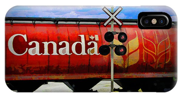 Railroad Signal iPhone Case - Waiting For Canada by Randall Nyhof