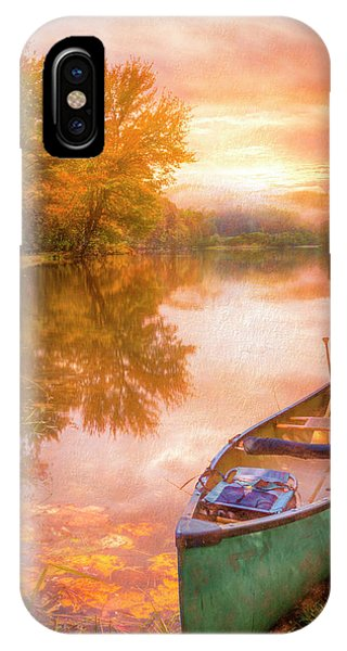 iPhone Case - Waiting For The Dawn In Peach by Debra and Dave Vanderlaan