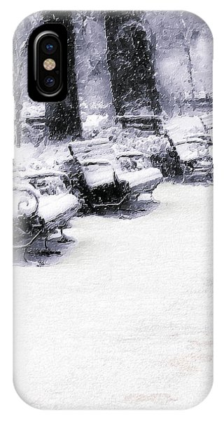 Park Bench iPhone Case - Waiting For The Sun by Pennie McCracken