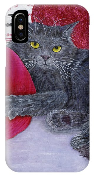 IPhone Case featuring the painting Waiting For You by Karen Zuk Rosenblatt