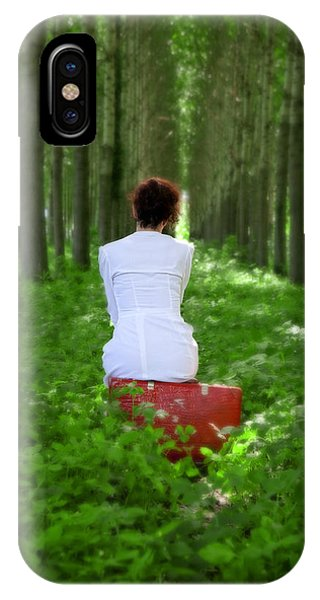 Departure iPhone Case - Waiting by Joana Kruse