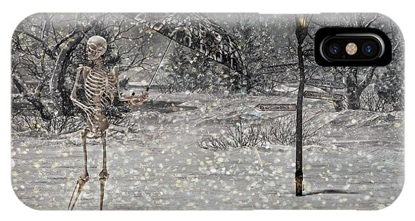 Winter Fun iPhone Case - Waiting On A Friend by Betsy Knapp