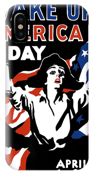American Flag iPhone Case - Wake Up America Day - Ww1 by War Is Hell Store