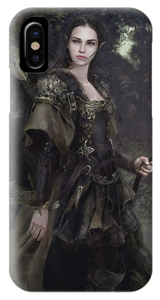 Elf iPhone Case - Waldelfe by Eve Ventrue