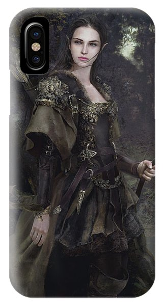 Elf iPhone X Case - Waldelfe by Eve Ventrue