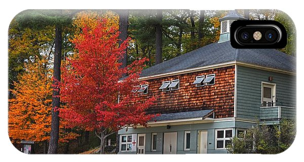 Walden Pond Bath House Concord Ma IPhone Case