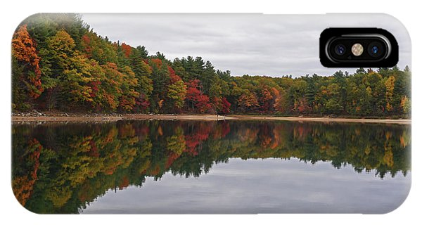 Walden Pond Fall Foliage Concord Ma Reflection Trees IPhone Case