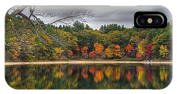 Walden Pond Fall Foliage Concord Ma IPhone Case