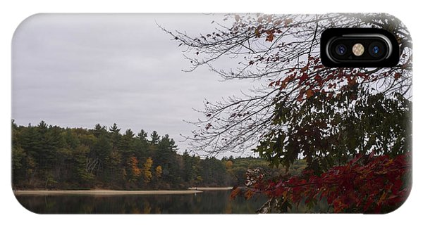 Walden Pond Fall Foliage Le 2aves Concord Ma IPhone Case