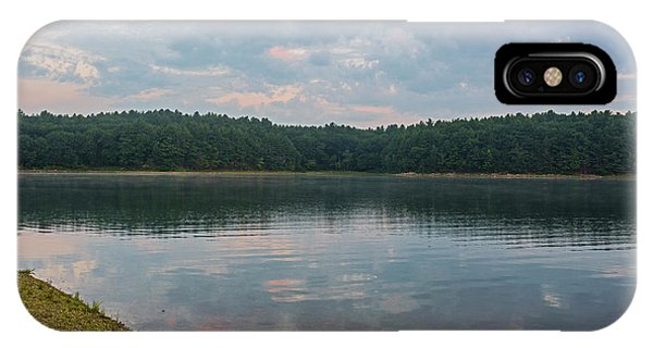 Walden Pond Morning Light Concord Ma Red Clouds IPhone Case