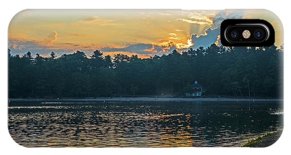 Walden Pond Sunrise Concord Ma IPhone Case