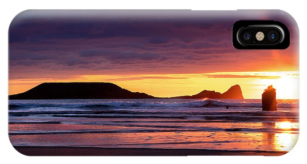 Wales Gower Coast Helvetia IPhone Case
