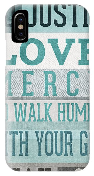 Christianity iPhone Case - Walk Humbly- Micah  by Linda Woods