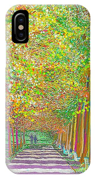 IPhone Case featuring the painting Walk In Park Cathedral by Hidden Mountain