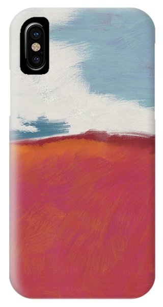Pink iPhone Case - Walk In The Field- Art By Linda Woods by Linda Woods