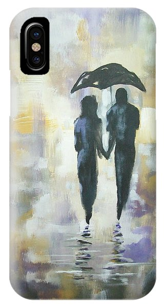 Walk In The Rain #3 IPhone Case