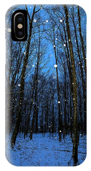 Walk In The Snowy Woods IPhone Case