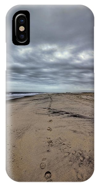 Long Beach Island iPhone Case - Walk The Line by Evelina Kremsdorf
