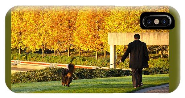 Walkies In Autumn IPhone Case