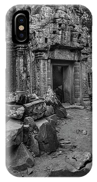 Angkor Thom iPhone Case - Walking Among The Ancients by Stephen Stookey