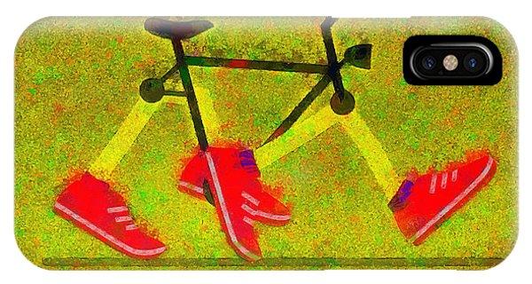 Tennis iPhone Case - Walking Bike - Da by Leonardo Digenio