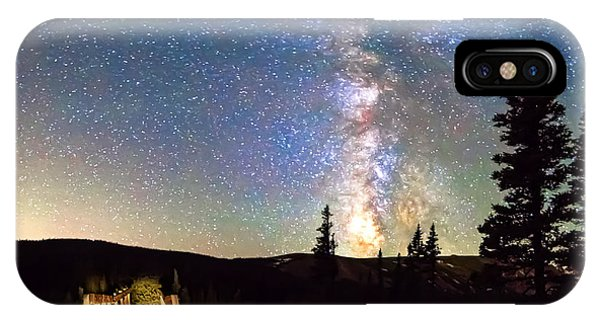 Indian Peaks Wilderness iPhone Case - Walking Bridge To The Milky Way by James BO Insogna