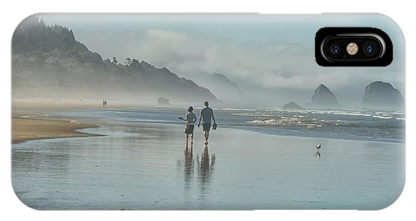Walking Cannon Beach IPhone Case