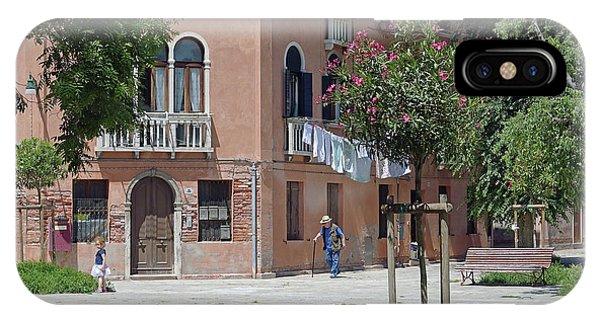 Walking In A Quiet Neighborhood On Murano IPhone Case