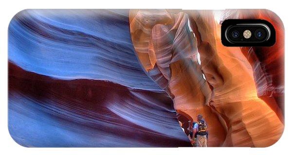 Walking In Antelope Canyon IPhone Case