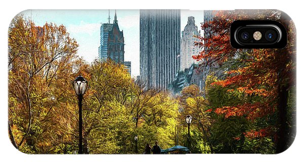 Walking In Central Park IPhone Case