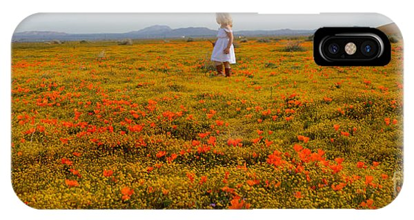 Walking In Poppies IPhone Case