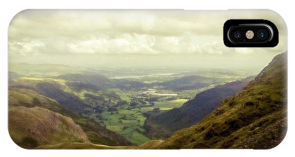 Walking In The Mountains, Lake District, IPhone Case